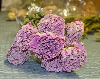 Dried Pink Peonies, Dried Peonies, Pink Peonies, Dried pink flowers