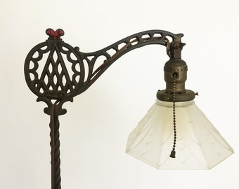 Iron Floor Lamp, Standing Lamp with Deco Shade