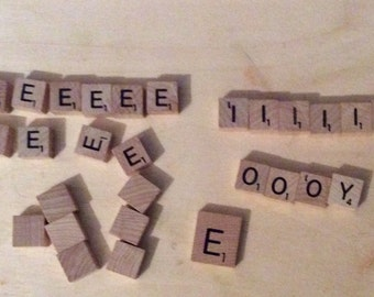 Scrabble letter tiles crafts decapage scrapbooking jewelry