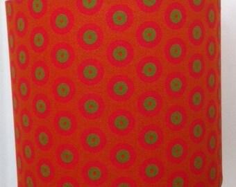Beautiful orange Shweshwe fabric lampshade