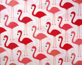 Fabric - Robert Kaufman - flamingo cotton print - fat quarter