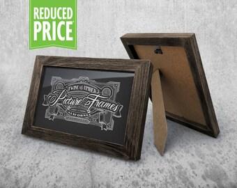 Rustic Picture Frame - Dark Walnut