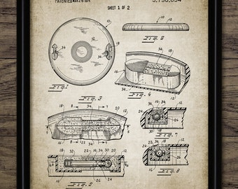 Frisbee Patent Print - 1974 Frisbee Design - Flying Disc Patent - Frisbee Invention - Frisbee Decor - Single Print #2039 - INSTANT DOWNLOAD