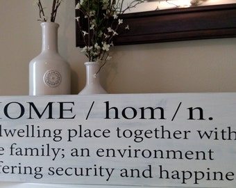 Home Definition Wood Sign// Home Wood Sign// Home Decor