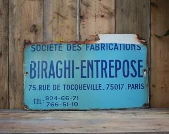 French Enamel Sign