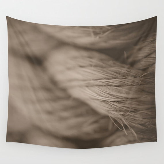 Wall Tapestry, Nautical Images, Sepia Colors, Macro Rope Image, Tropical Photo, Close Up Photography, Black and White, Large Wall Art