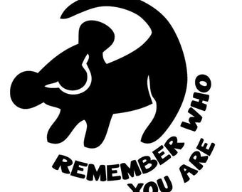 SVG File of Simba Remember Who You Are - Disney The Lion King