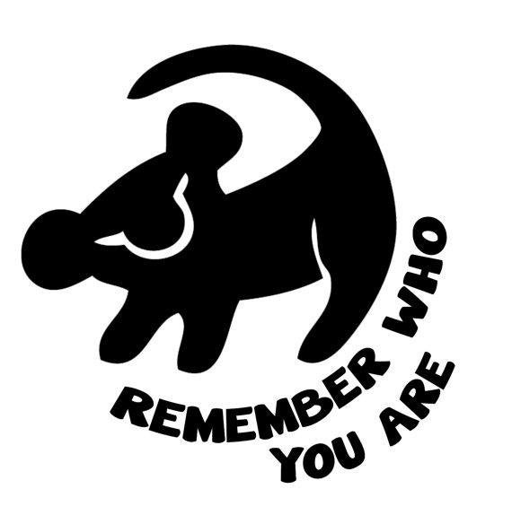svg file of simba remember who you are disney the lion king