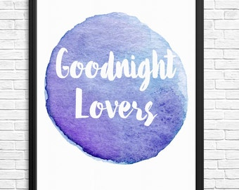 Goodnight Lovers Watercolour Digital Print