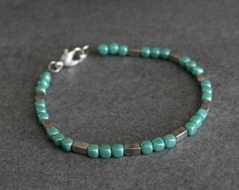 Mint Bead Bracelet, Mint Bracelet, Mint Beaded Bracelet, Green Bracelet, Green Bead Bracelet, Mint Green Bracelet, Mint Bangle, Green Bangle