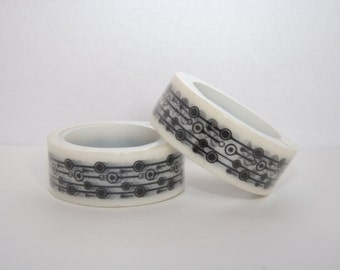 Black and white Washi Tape roll architectural pattern masking tape scrapbooking planner supplies Gift  decoration wedding