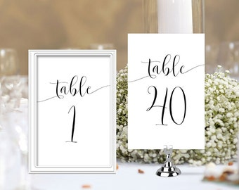Printable, table number, for wedding, template, cards, instant download, wedding numbers, S2