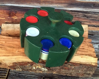 Wooden, Poker, Caddy, Time to Make Aces Fold Vintage  Chips Carousel,  Collectible Revolving Texas Hold em Family entertainment Family Room