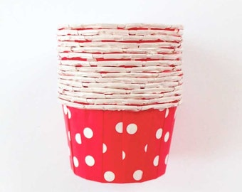 20 Red Polka Dot Candy Cups, Treat Cups Cupcake Liners