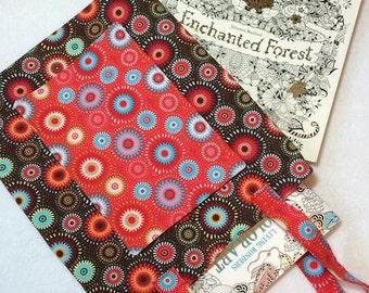 Adult coloring book bag, adult coloring tote, adult coloring book accessories, coloring for adults