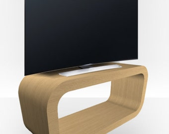 Natural Oak Matt TV Stand - Hooptangle
