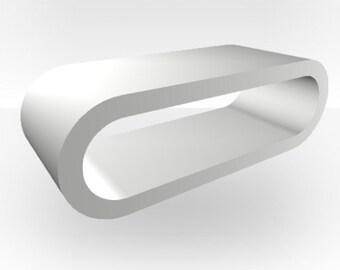 White Matt Coffee Table - Large Hoop