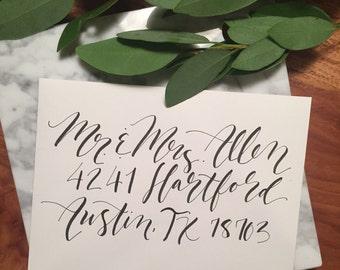 Invitation envelope addressing