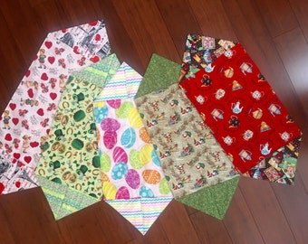 Holiday table runners Valentines / St Patricks / Easter / Christmas  / Everyday - Mary Engelbreit set of five