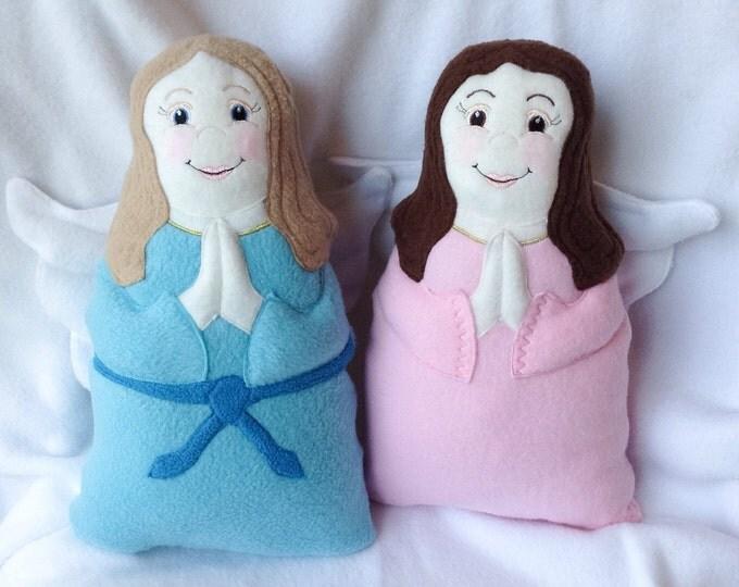 Angel Doll, Custom Guardian Angel Soft Saint Doll, Catholic Saint Doll, Personalized Guardian Angel Doll, Custom Made Doll, Plush Doll.