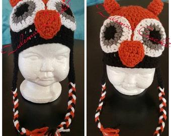 Crochet Owl Beanie, Crochet Baby Owl, Crochet Baby Boy Owl, Owl Baby Beanie