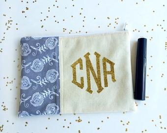 Bridesmaid Gifts - Monogram Makeup Bag - Graduation Gifts - Makeup Bag - Toiletry Bag - Waterproof Bag - Birthday Gift for Her