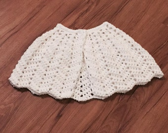 Little Girl's Shawl, Capelet, Communion Shawl, Flower Girl, Special Occasion