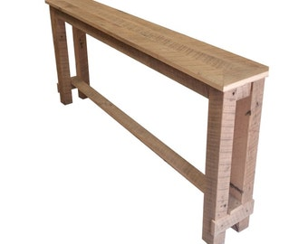 Authentic Barn Wood Console Table