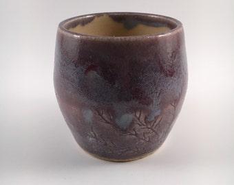 Stoneware Coral cup