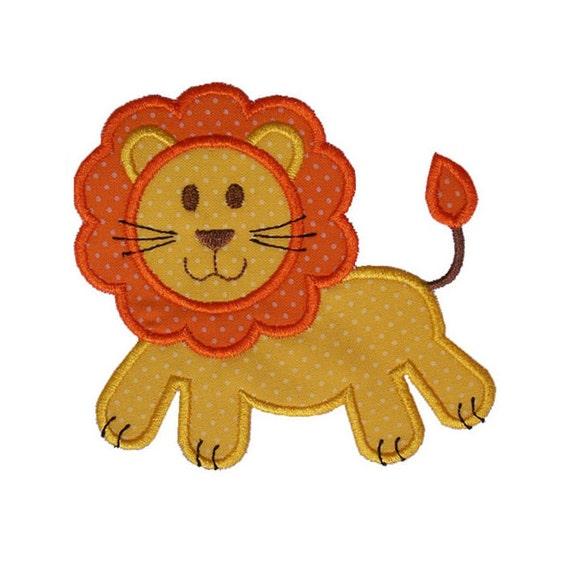 Lion Applique Machine Embroidery Design Animal