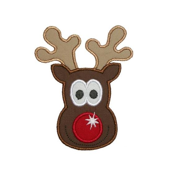 Cute reindeer head template