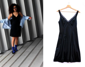 Black vintage underwear dress