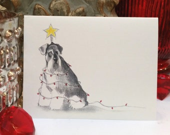Schnauzer Holiday Card