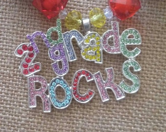 2nd Grade Rocks Bubble Gum Bead Necklace