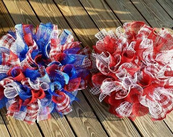 Choose one of these any color Red White and Blue Wreath