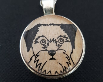 Border Terrier Keyring / Dog Keychain. Perfect Gift for Him, or Gift for Her.
