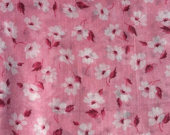 Vintage Cotton Quilt / Dress Fabric sold by the Yard