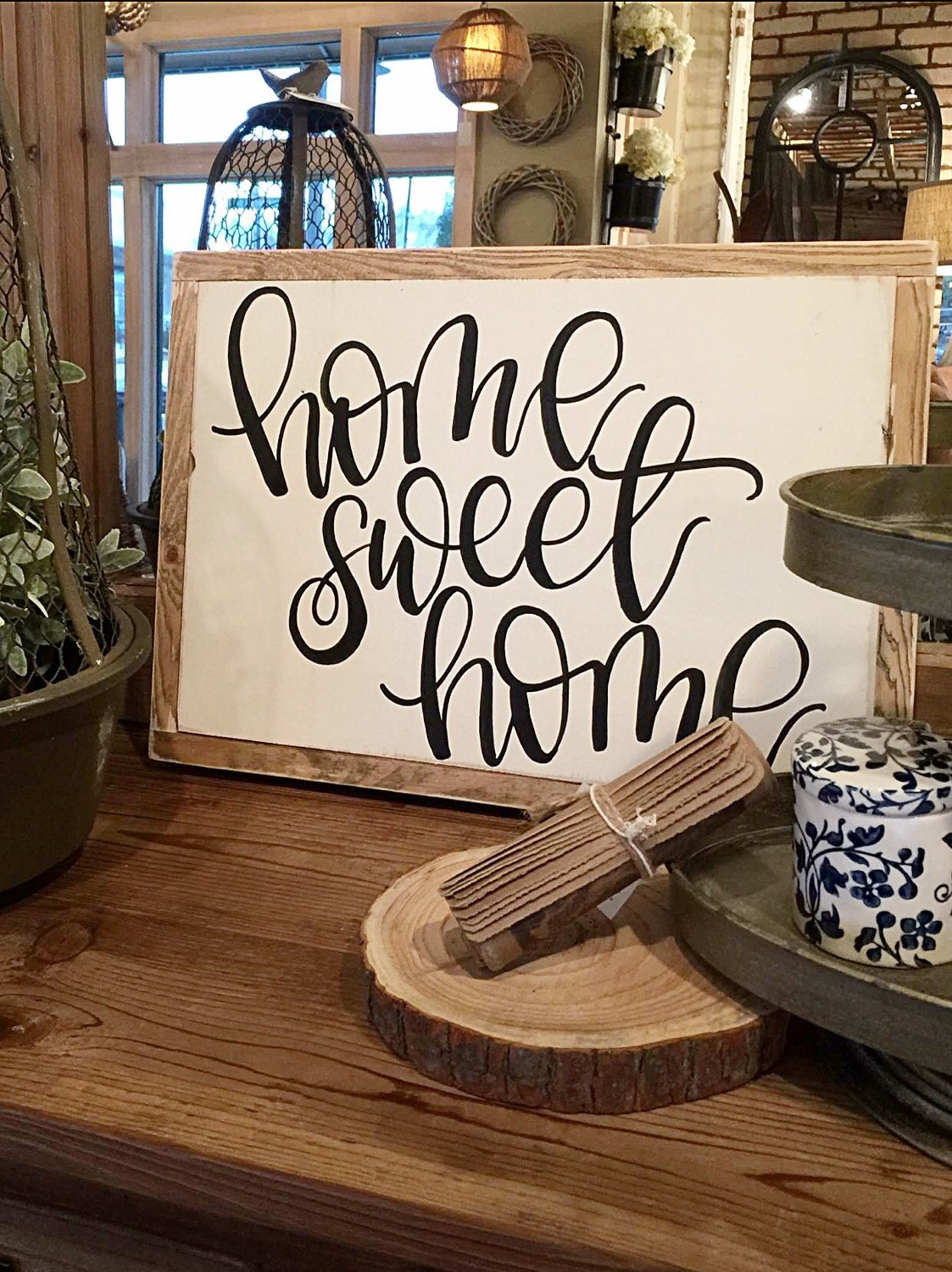 Home Sweet Home Hand Painted Sign Home Decor