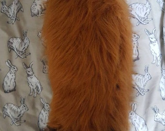 Zootopia Zootropilis Nick Wilde Fox Tail and Ears Cosplay. Large. Faux fur Luxury Ginger Long hair Clip Fluffy Kawaii Vulpix