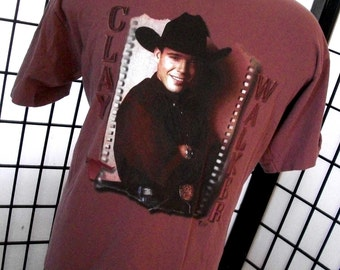 Clay Walker 1 2 I Love You, Headin' Your Way! Alore concert tee shirt xl made in USA
