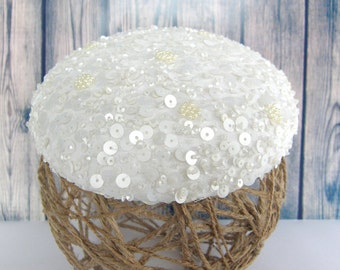 Bibi Elodie beret with sequins for bride