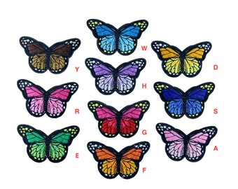 Embroidered Iron On Appliques patch Colourful Butterfly NEW