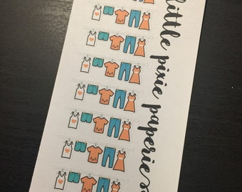 Functional Planner Stickers Laundry Line