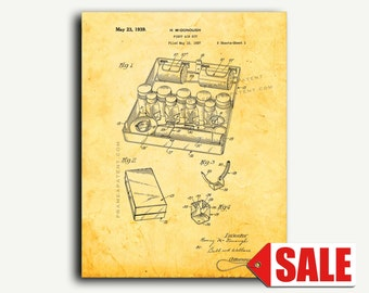 Patent Print - First Aid Kit Patent Wall Art Poster