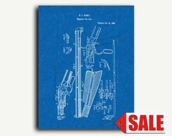 Patent Art - Henry Rifle Patent Wall Art Print