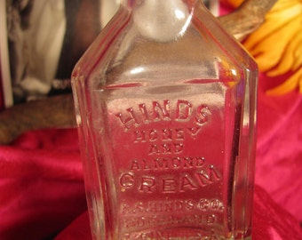 Vintage Hinds Honey and Almond Cream Bottle Portland in good condition