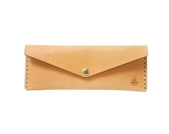 Leather Long Wallet / Envelope Clutch / Women's Wallet / Purse / Handmade in Portland, Oregon