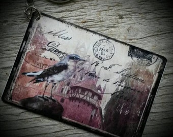 Bird Envelope Keychain