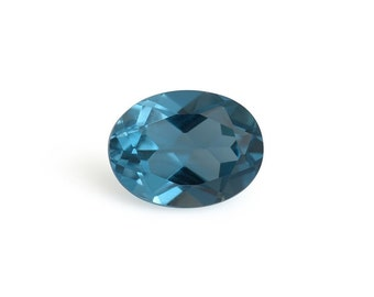 London Blue Topaz Loose Gemstone Oval Cut 8x6mm TGW 1.50 cts.