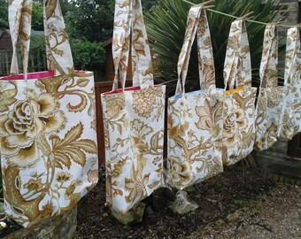 Vintage Bag,Lunch Bag,Boho,Snack Bag,Vintage Tote Bag,Cotton With Lining Mighty Tote Bag, Small Bag, Mini Bag,Gift For Women,Nev Job.